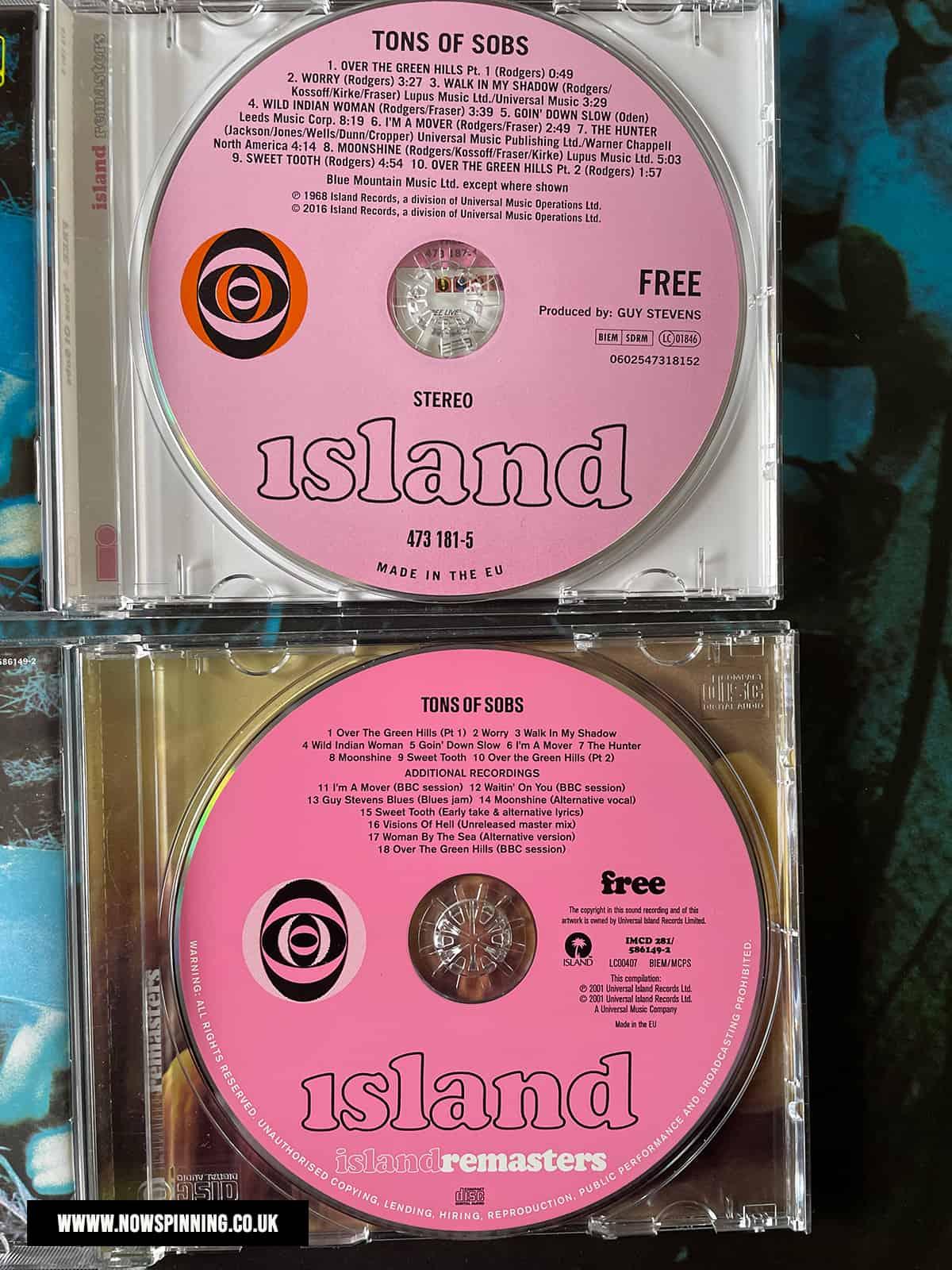Free Tons of Sobs CD Ramaster