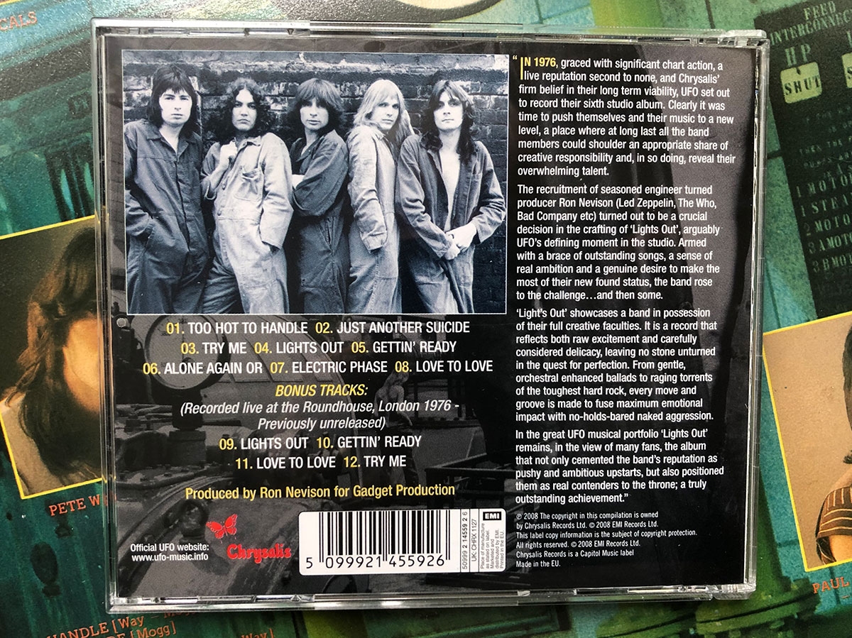 UFO Lights Out CD Remaster