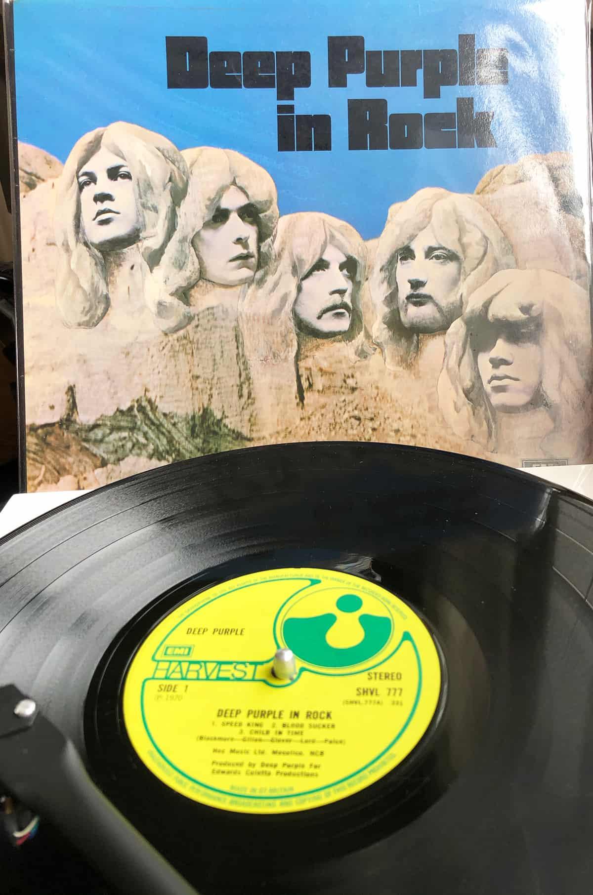 Deep Purple In Rock Vinyl 1970 Harvet Records