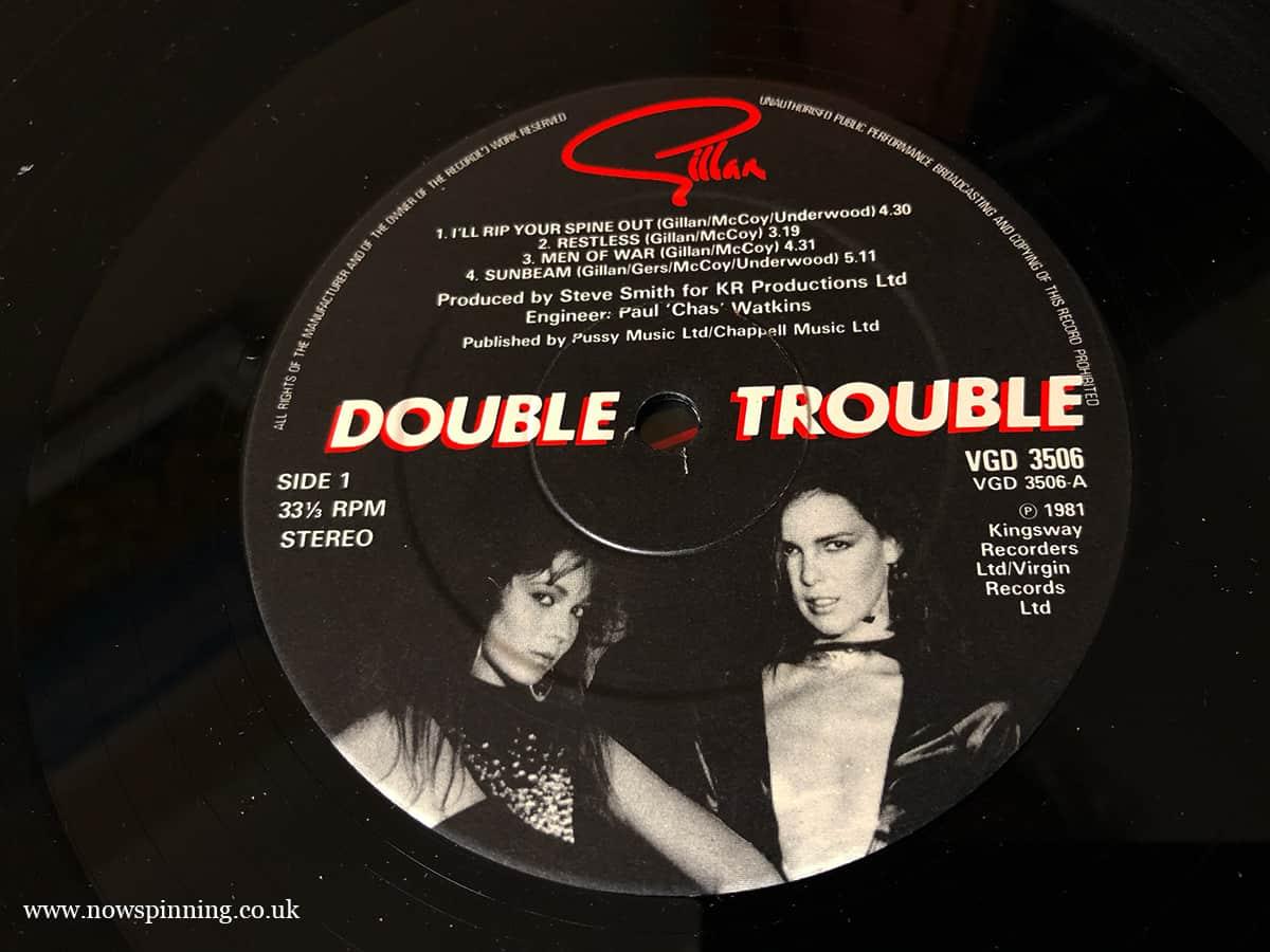 Ian Gillan Double Trouble Vinyl