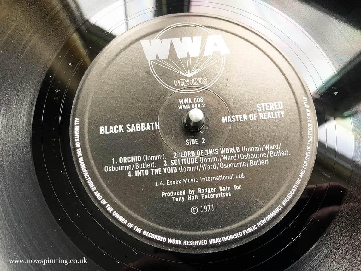 Black Sabbath classic album reviews master of reality