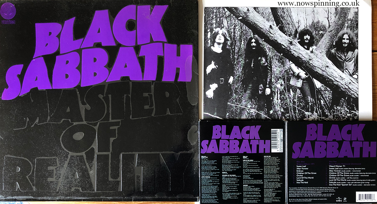 Black Sabbath Master of Reality vinyl and 2CD Deluxe edition