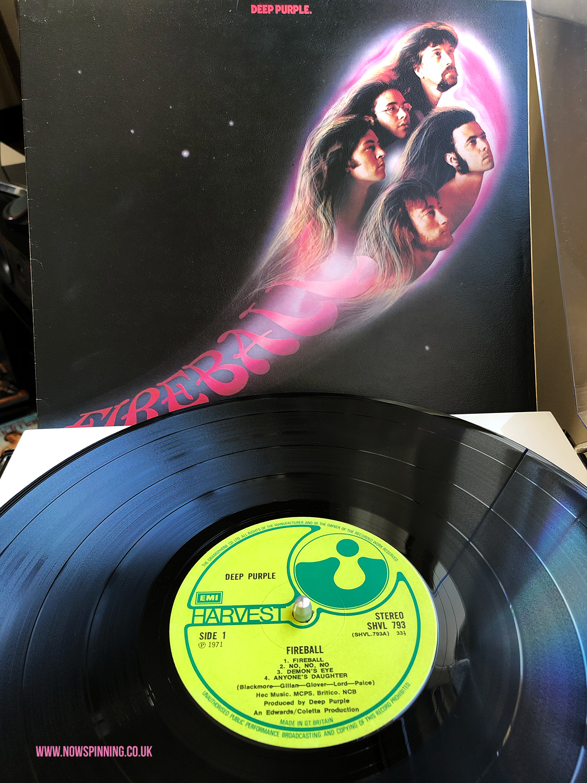 Deep Purple Fireball 1971 UK Vinyl