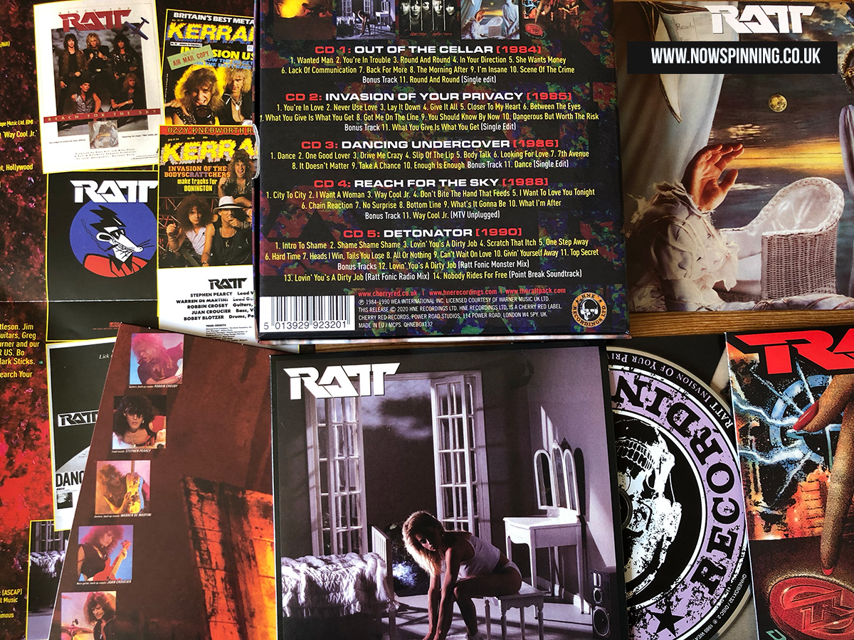Ratt The Atlantic Years Cherry Red Records unboxing video