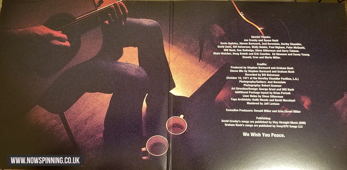 David Crosby Graham Nash Live Vinyl Gatefold