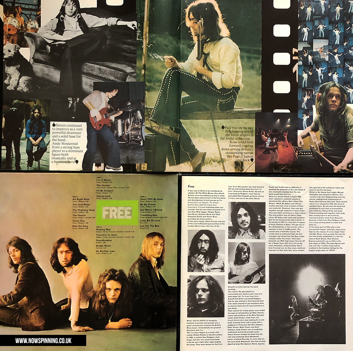 The Free Story - Gatefold UK and German editions