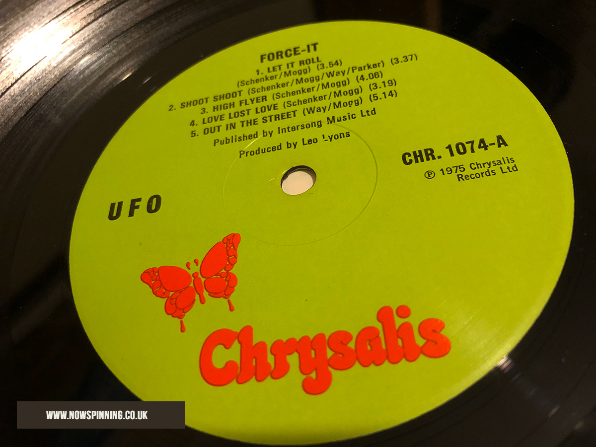UFO Force It side 1 vinyl