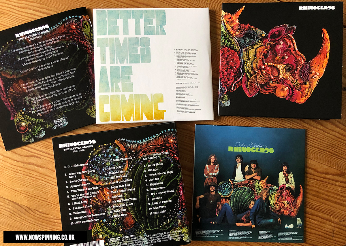 Unboxing Rhinoceros The Elektra Albums 1968 - 1970 3 CD Box Set Review