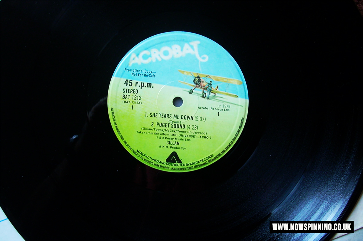 Ian Gillan Mr Universe Promo Vinyl