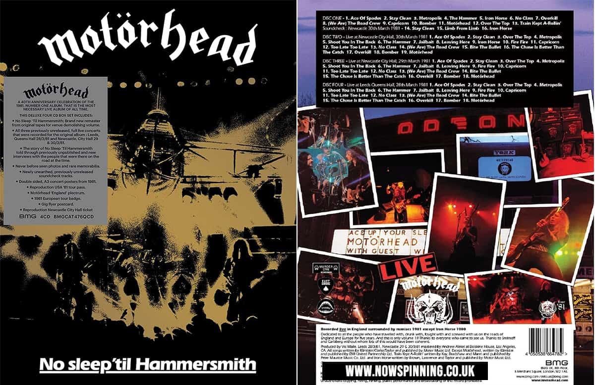 Motorhead 40th Anniversary 4CD box Set