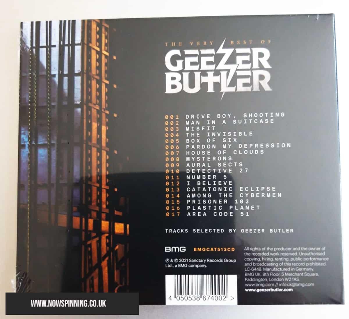 The Best of Geezer Butler - tracklisting