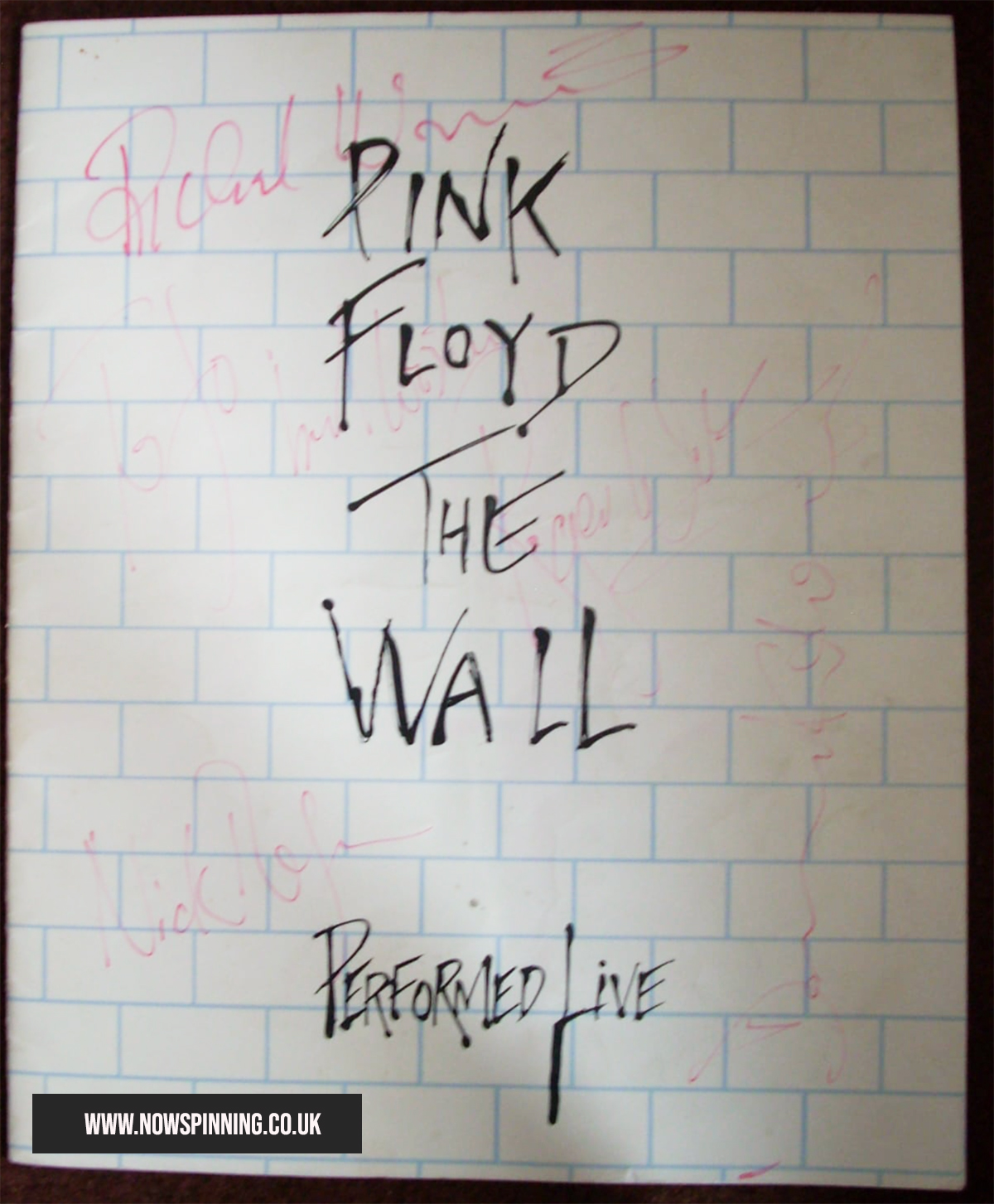 Pink Floyd The Wall Signed Tour Book
