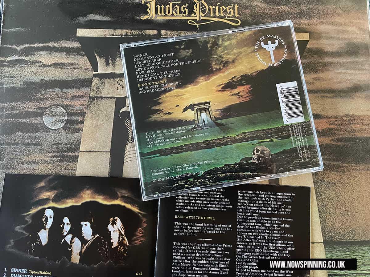 Judas Priest Sin After Sin CD and Vinyl