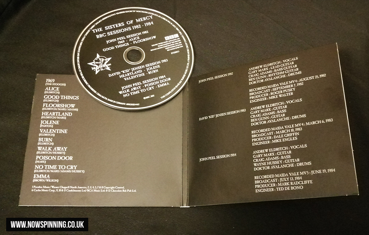 The Sisters of Mercy - BBC Sessions 1982-1984 (BBC/Warners 2021) Review