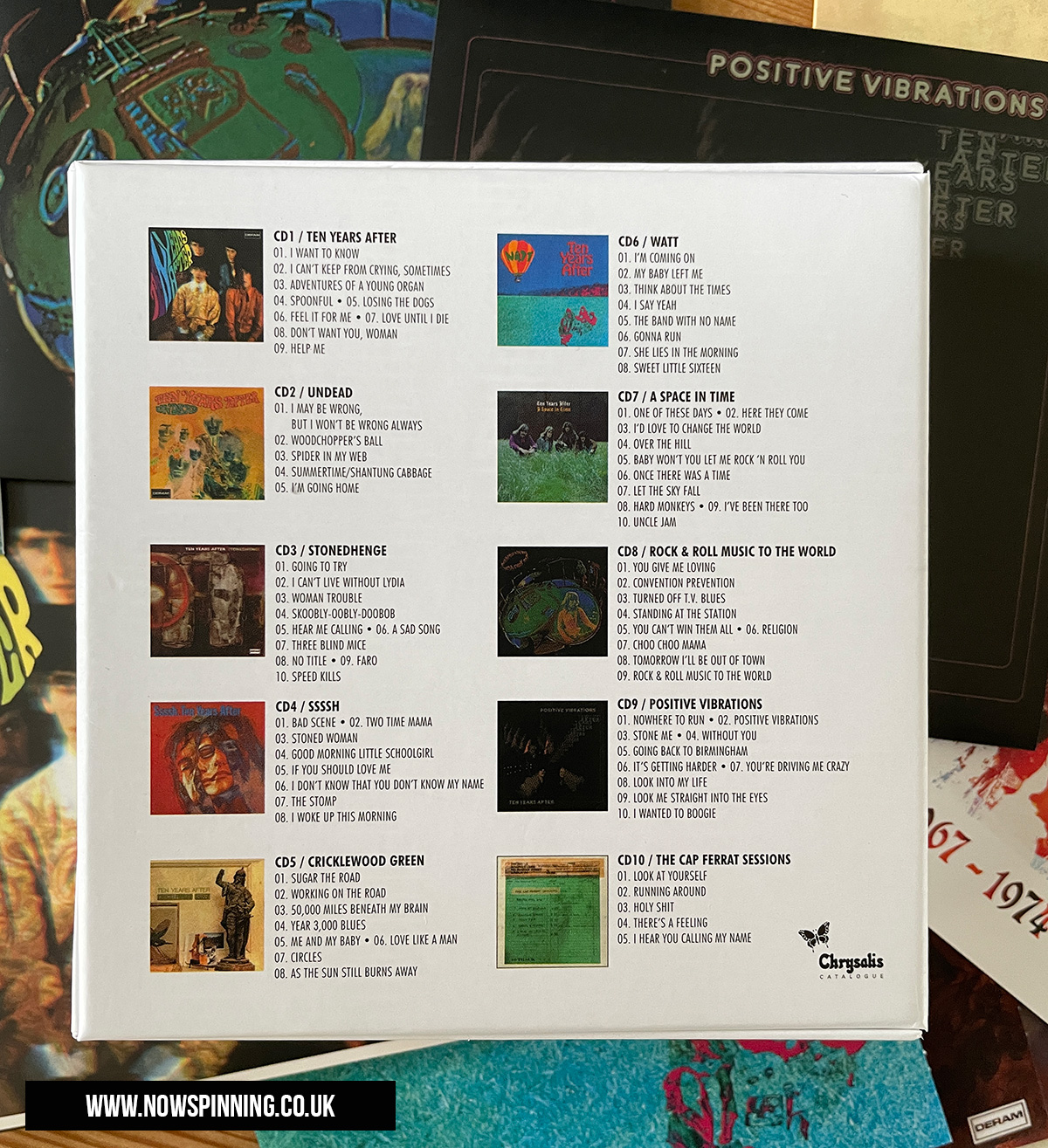 Unboxing Ten Years After 1967 - 1974 CD Box Set