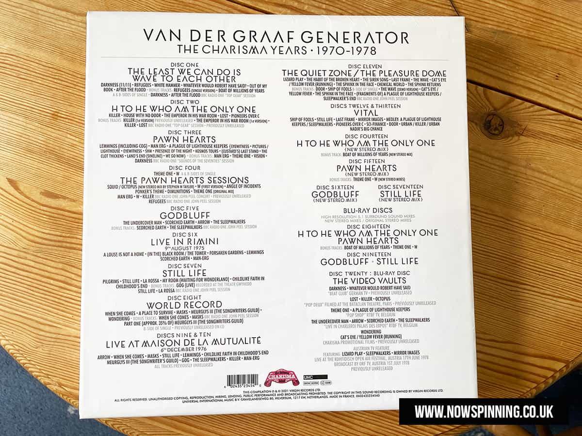 Van Der Graaf Generator - The Charisma Years - Unboxing Video and Reviewed